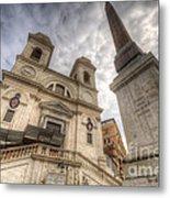 Trinita Dei Monti Church Metal Print