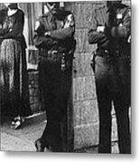 Trio Of Arm Crossers San Francisco California 1972 Metal Print