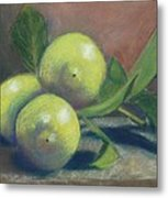 Trio Of Lemons Metal Print