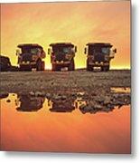 Trio Of Trucks Metal Print