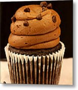 Triple Chocolate Cupcake Metal Print