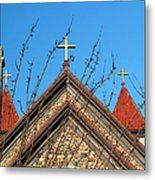 Triple Cross 4 Metal Print