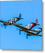 Triple Mustangs Metal Print
