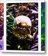 Triptych - Christmas Decoration - Featured 3 Metal Print