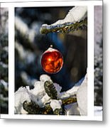 Triptych - Christmas Forest - Featured 3 Metal Print