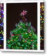 Triptych - Christmas Trees - Featured 3 Metal Print