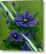 Floral Triptych 1 Metal Print