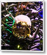 Triptych - Traffic Lights Christmas - Featured 2 Metal Print