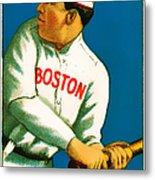 Tris Speaker Boston Red Sox Baseball Card 0520 Metal Print