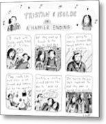 Tristan & Isolde In A Happier Ending Metal Print