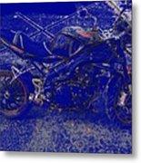 Triumph In Blue Metal Print