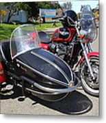 Triumph Motorcycle With Sidecar 5d28099 Metal Print
