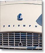 Triumph Tr3 Grille Emblem Metal Print