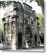 Triumphal Arch - Orange Provence Metal Print