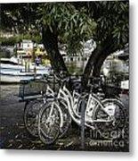 Trois Bikes Metal Print