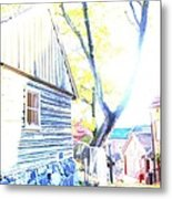 It Was A Sunny Day In The Old City  Metal Print
