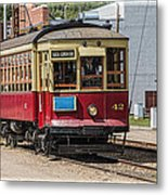 Trolley Car At The Fort Edmonton Park Metal Print
