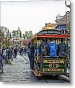 Trolley Car Main Street Disneyland 01 Metal Print