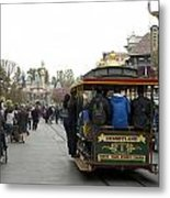 Trolley Car Main Street Disneyland 03 Metal Print