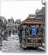 Trolley Car Main Street Disneyland Sc Metal Print