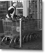 Trolley Dash Metal Print
