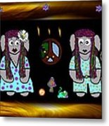 Trolls In Hippie Wood Metal Print