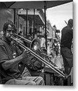 Trombone In New Orleans 2 Metal Print by David Morefield