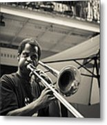 Trombone In New Orleans Metal Print by David Morefield