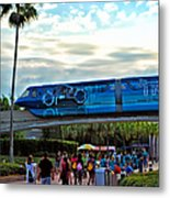 Tron Monorail At Walt Disney World Metal Print by Thomas Woolworth