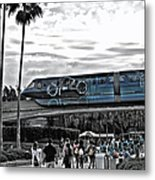 Tron Monorail Wdw In Sc Metal Print by Thomas Woolworth