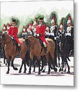 Trooping Of The Colour Metal Print