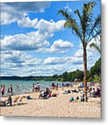 Tropical Beach In Port Dover Metal Print