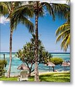 Tropical Beach. Mauritius Metal Print