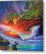 Tropical Color Mosaic Metal Print