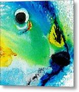 Tropical Fish 2 - Abstract Art By Sharon Cummings Metal Print