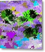Tropical Fish Abstraction Metal Print