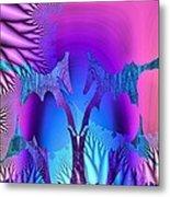 Tropical Fractal Metal Print