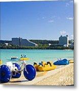 Tropical Fun At The Beach In Tumon Bay Guam Metal Print