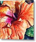Tropical Hibiscus Metal Print