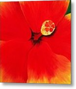 Tropical Hibiscus Painting Metal Print