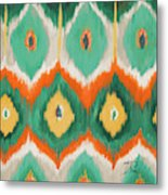 Tropical Ikat II Metal Print