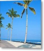 Tropical Island Beach And Sidewalk Art Prints Metal Print
