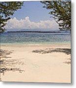Tropical Island Beach Metal Print