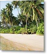 Tropical Island Beach Scenery Metal Print
