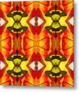 Tropical Leaf Pattern 7 Metal Print