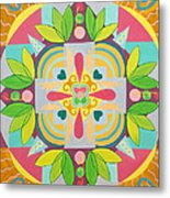 Tropical Mandala Metal Print