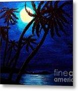 Tropical Moon On The Islands Metal Print
