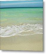 Tropical Ocean Beach Metal Print
