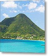 Tropical Panorama In The Caribbean Metal Print