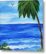 Tropical Path Metal Print